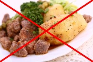 Запрещенная пища при простатите