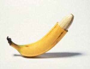 Парафимоз, показанный на примере банана