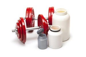 Спортивное питание (банки и гантели)