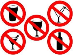 В летнее время рекомендуется до минимума сокращать употребление алкоголя