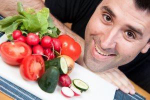 Мужчина старше 30 лет и здоровая пища